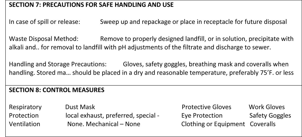 Cedar Guard safety and handling information